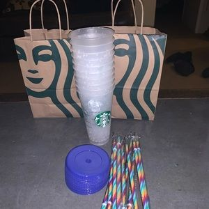 Starbucks Lot of 10 Confetti Color Changing Cups
